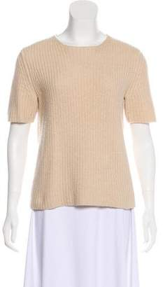 Theory Wool Short Sleeve Top