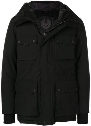 Belstaff cargo pocket hooded jacket