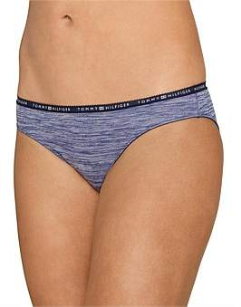 Tommy Hilfiger Logo Heather 3 Pack Bikini