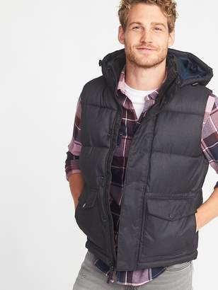 Old Navy Detachable-Hood Frost-Free Puffer Vest for Men