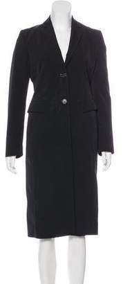 Prada Notch-Lapel Long Coat