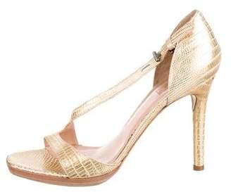 Reed Krakoff Embossed Metallic Sandals