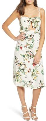 Leith Keyhole Midi Dress