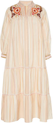 Anna Sui Embroidered Ribbon Strip Dress