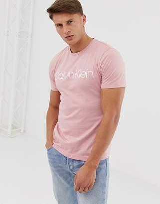 Calvin Klein logo front t-shirt in pink