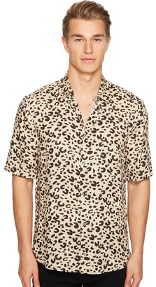 McQ - Short Sleeve Leopard Sheehan Shirt Men's Clothing $290 thestylecure.com