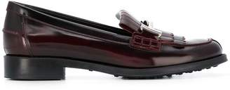 Tod's double-T fringed loafers