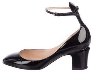 Valentino Tan-Go Patent Leather Round-Toe Pumps