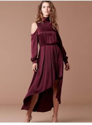 Diane von Furstenberg High Low Mock Neck Gown