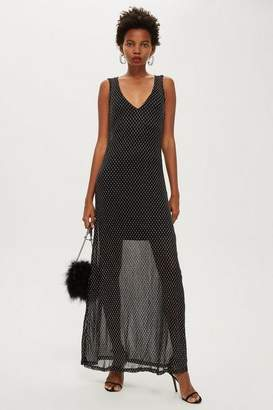 Topshop **Celeste - Silver Sands Mesh Dress by WYLDR