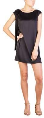 Prada Women's Silk Shoulder Bow Dress Black.