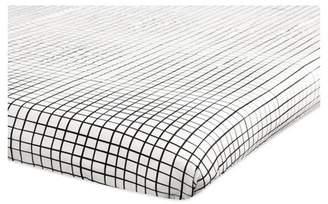 Babyletto Mini Fitted Crib Sheet - Tuxedo Monochrome Grid