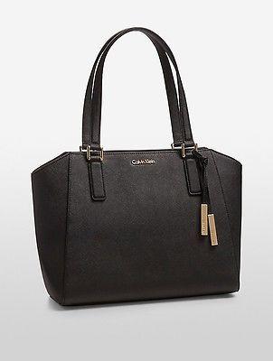 Calvin KleinCalvin Klein Womens Saffiano Leather Tote