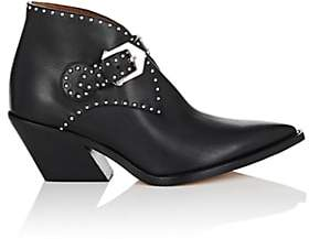 Givenchy Women's Studded Leather Ankle Boots-Black