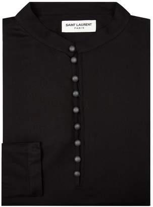 Saint Laurent Buttoned Neck Tunic