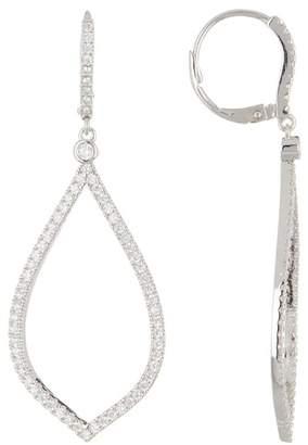 Nordstrom Rack Pave CZ Large Teardrop Dangle Earrings