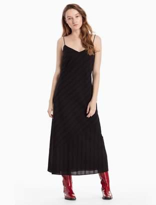 Calvin Klein lace stripe strap dress