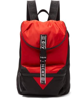 Givenchy Light 3 Leather Trimmed Technical Backpack - Mens - Black Red