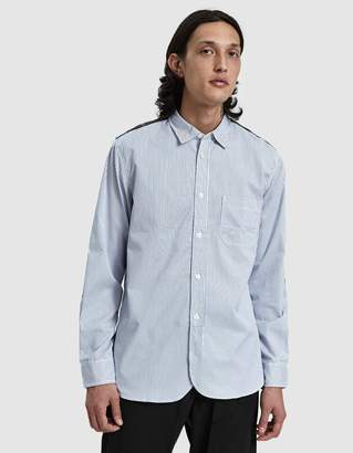Junya Watanabe Twill Stripe Check Button Up Shirt