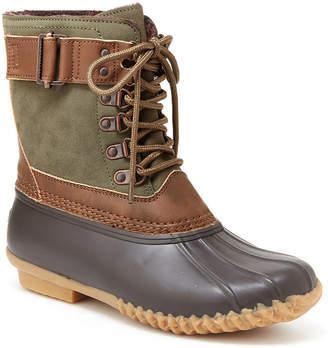 Jambu J Sport By Womens Ontario Water Resistant Flat Heel Lace-up Rain Boots