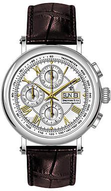 Dreyfuss & Co Men's Valjoux Automatic Chronograph Leather Strap Watch