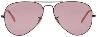 Ray-Ban Black and Pink Pilot Aviator Sunglasses