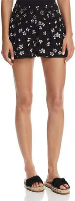 Aqua Smocked Floral Print Shorts - 100% Exclusive