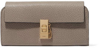 Chloé Drew Textured-leather Wallet - Gray