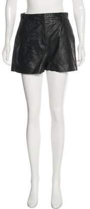 Elizabeth and James Leather High-Rise Shorts