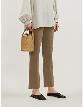 Theory Cropped stretch-cotton trousers