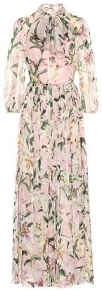 Dolce & Gabbana Floral silk-chiffon maxi dress
