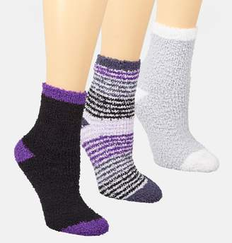 Avenue Purple Stripe Cozy Socks 3-Pack