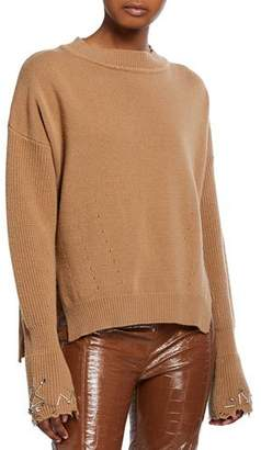 Pinko Embellished Crewneck Wool Sweater