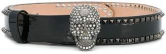 Philipp Plein embellished skul belt