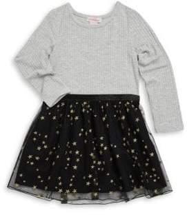 Design History Little Girl's Knit Ruffled Dress