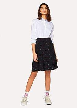 Paul Smith Women's Black 'Ice Lolly' Print Midi Skirt