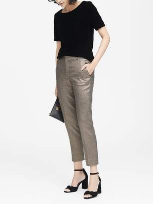 Banana Republic Avery Straight-Fit Metallic Ankle Pant