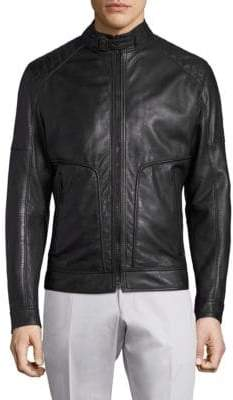 Strellson Shield Perforated Leather Jacket