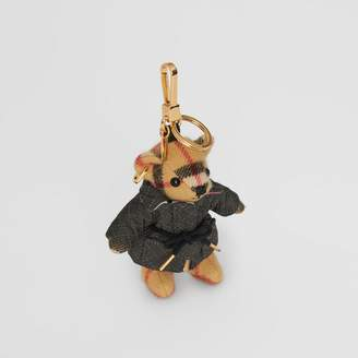 Burberry Thomas Bear Charm in Quilted Jacket, Yellow