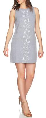 CeCe Arlington Sleeveless Embroidered Shift Dress