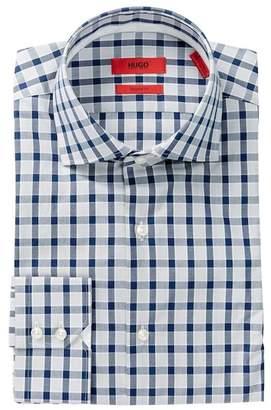 BOSS Front Button Plaid Print Regular Fit Woven Shirt