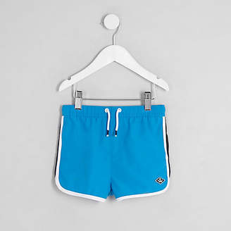 River Island Mini boys blue runner swim trunks