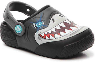 Crocs Funlab Shark Toddler & Youth Light-Up Clog - Boy's