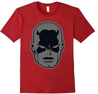 Marvel Daredevil Classic Retro Greyed Out Big Head T-Shirt