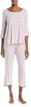 Kate Spade Scattered Dots Cropped Pajama Set