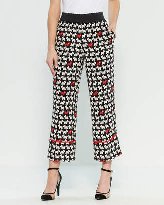 Moschino Silk Dog Print Pants