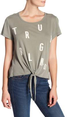 True Religion Tie Front Graphic Tee