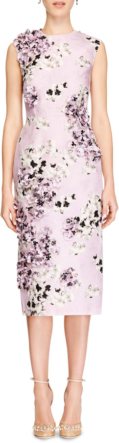Giambattista Valli Embellished Floral-Print Silk Dress