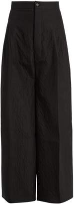 Rick Owens Mid-rise wide-leg wool and silk-blend trousers