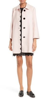 Women's Kate Spade New York Scallop Twill Coat $698 thestylecure.com